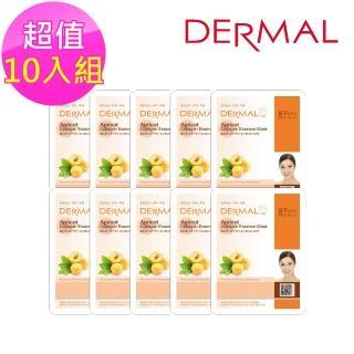 【DERMAL】杏仁緊緻潤膚面膜10入組(人氣面膜)   DERMAL