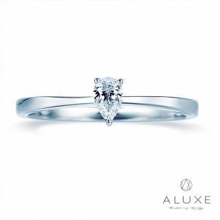 【A-LUXE 亞立詩】Pure系列 18K金 水滴梨型鑽戒指女戒