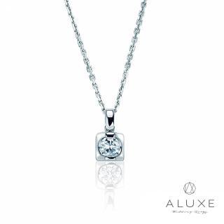 【A-LUXE 亞立詩】時尚包鑲單顆美鑽項鍊