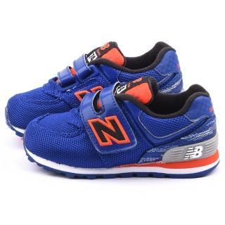【NewBalance】小童 經典574復古運動鞋(KG574SXI-藍)