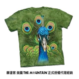 【摩達客】美國進口The Mountain 亮眼孔雀 純棉環保短袖T恤
