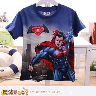 【魔法Baby】男童裝 蝙蝠俠對超人正義曙光授權短袖T恤(k50096)