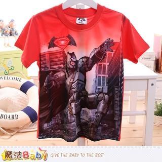 【魔法Baby】男童裝 蝙蝠俠對超人正義曙光授權短袖T恤(k50097)