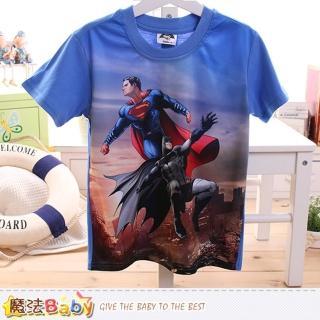 【魔法Baby】男童裝 蝙蝠俠對超人正義曙光授權短袖T恤(k50098)
