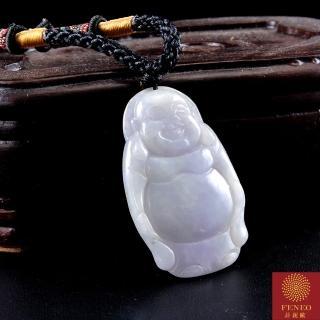 【菲鈮歐】彌勒佛天然春帶彩A貨翡翠項鍊(1591)