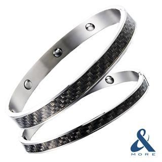【&MORE愛迪莫鈦鍺】『時尚DNA鍺手環』(靜謐灰)