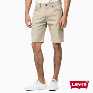 【Levis】505 淺卡其素色修身休閒短褲