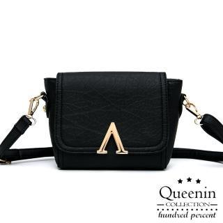 【DF Queenin日韓】歐系時尚經典款仿皮側背包