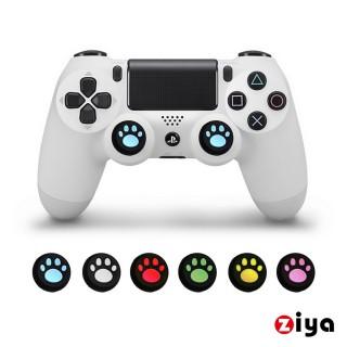 【ZIYA】SONY PS4 遙控手把3D按鈕帽蓋 喵星人(4入 顏色隨機)