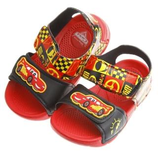 【布布童鞋】Cars閃電麥坤黑紅色賽車風格輕便涼鞋(MIT853D)