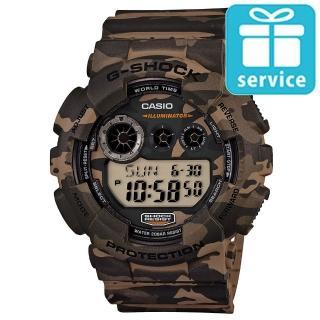 【CASIO】G-SHOCK 軍事戰鬥玩酷迷彩造型概念錶(GD-120CM-5)