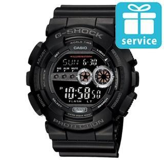 【CASIO】G-SHOCK 強悍菱格壓紋造型錶(GD-100-1B)