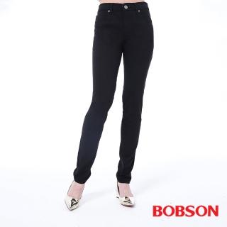 【BOBSON】女款高腰膠原蛋白拉毛小直筒褲(8140-87)