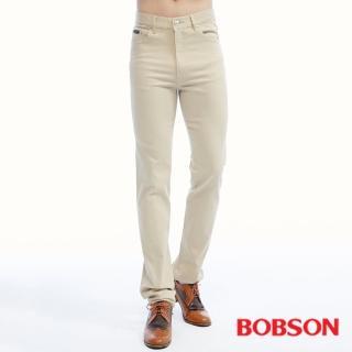 【BOBSON】男款高腰膠原蛋白直筒褲(1804-75)