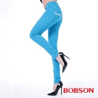 【BOBSON】女款膠原蛋白彩色小直筒褲(8118-01)