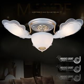【光的魔法師 Magic Light】金天使 半吸頂三燈 臥室燈具 吸頂燈飾