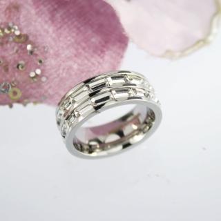 【xmono】白色T型滿鑽戒指   xmono