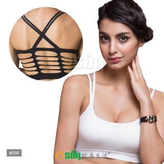 【Osun】棉質歐美美背鏤空瑜伽跑步無痕運動上衣(四色任選2入CE176-008)