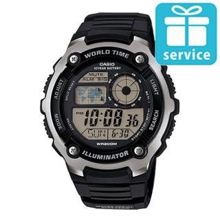 【CASIO】10年電力世界時間運動錶(AE-2100W-1A)