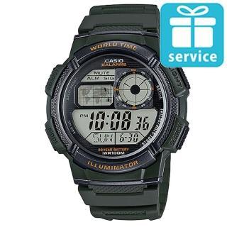 【CASIO】世界城市野外風格概念錶(AE-1000W-3A)