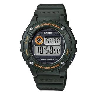 【CASIO】機械設計感電子錶(W-216H-3B)