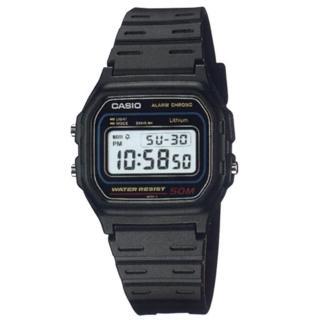 【CASIO】簡約流線運動電子錶(W-59-1)