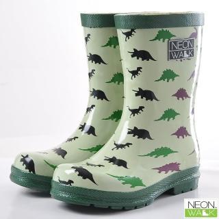 【Neon Walk】兒童侏儸紀恐龍(Neonwalk 尼沃 兒童雨靴 兒童雨鞋 中筒雨靴)