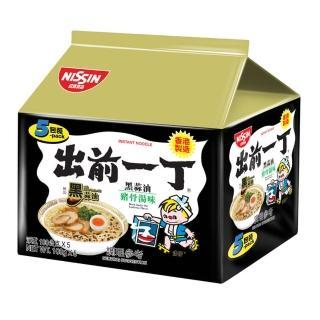 【日清】出前一丁黑蒜油豬骨濃湯味速食麵100gX5入(泡麵)
