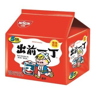 【日清】出前一丁麻油味速食麵100gX5入(泡麵)