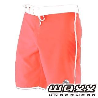 【WAXX】繽紛系列-吸濕排汗男性18英吋衝浪短褲(粉橘色)
