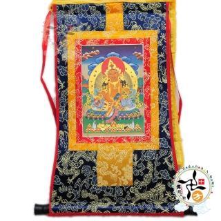 【十方佛教文物】黃財神 迷你唐卡