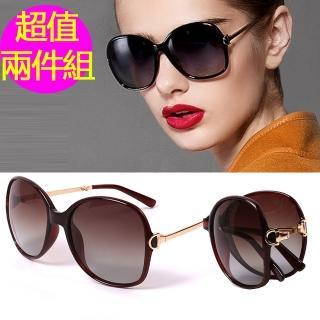 【MEGASOL】寶麗萊摺疊UV400偏光太陽眼鏡(超值2套組MS9217Z-2)