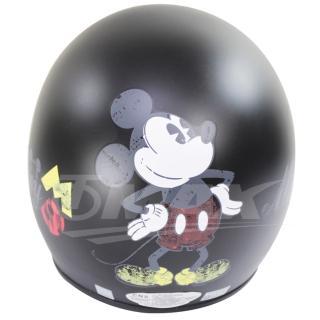 米奇全可拆半罩式機車安全帽-黑色+抗uv短鏡片+6入安全帽內襯套(12H)