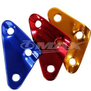 【omax】鋁合金-三角營繩調節片-8入(顏色隨機出貨)