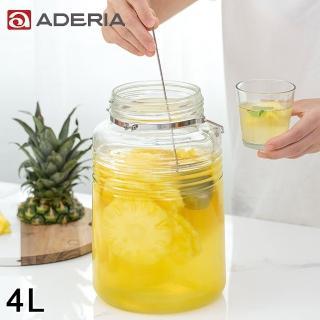 【ADERIA】日本進口時尚玻璃梅酒瓶(4L)
