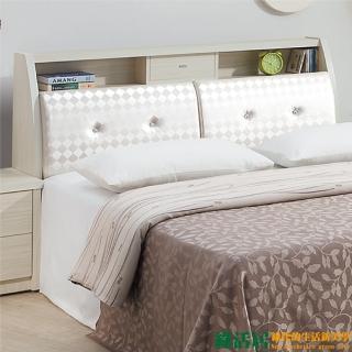 【綠活居】艾格林 雪杉白6尺皮革床頭箱(不含床底+床墊)