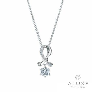 【A-LUXE 亞立詩】18K金 0.30克拉 愛心6爪 擁愛鑽石項鍊