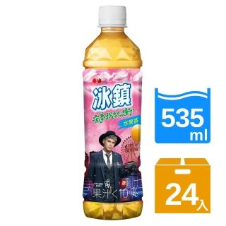 【泰山】冰鎮水果茶PET535ml(24瓶/箱)