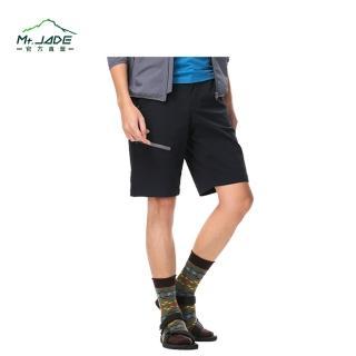 【Mt.JADE】男款Jasper抗Anti-UV吸濕快乾彈性五分褲(石墨黑)