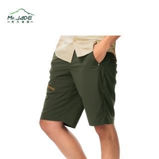【Mt.JADE】男款Jasper抗Anti-UV吸濕快乾彈性五分褲(軍綠)