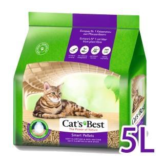 【德國凱優CAT'S BEST】優質凝結木屑砂-紫標(長毛貓專用-5Lx1包)