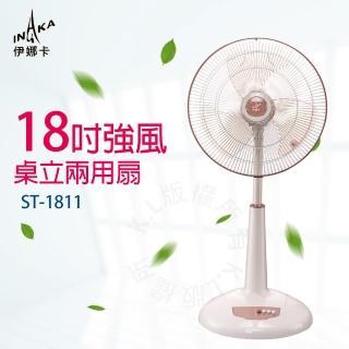 【伊娜卡】18吋強風桌立兩用扇(ST-1811)