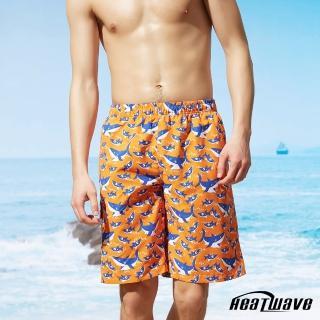 【Heatwave 熱浪】男海灘褲-橘陽鯊(A201)