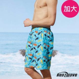 【Heatwave 熱浪】加大男海灘褲-彩游魚(A202)