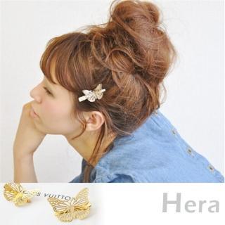 【Hera】Hera】赫拉 鏤空蝴蝶邊夾/髮夾/一字夾(金色)