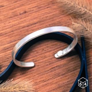 【ART64】手環 手鐲 品牌C型手環  霧面-大 999純銀手環
