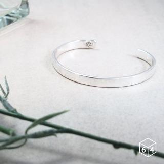 【ART64】手環 手鐲 品牌C型手環 亮面-大 999純銀手環