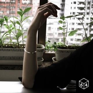 【ART64】手環 手鐲 品牌C型手環 霧面-小 999純銀手環