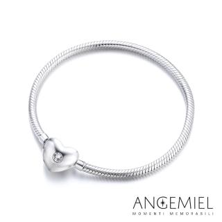 【Angemiel安婕米】義大利珠飾 925純銀手鍊(愛心款)