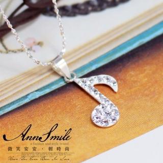 【微笑安安】晶鑽音符925純銀項鍊